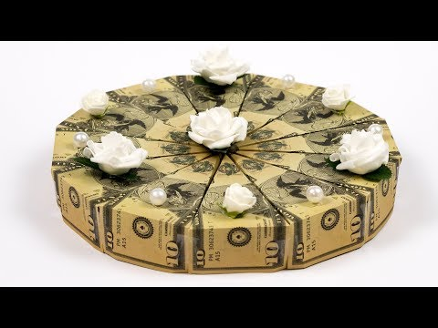 Money Cake 🍰 How To Make A Dollar Origami Birthday Cake