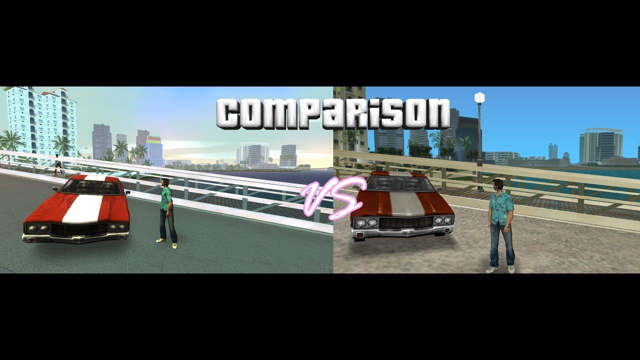 Gta Vice City graphics mod 2016 edition COMPARISON