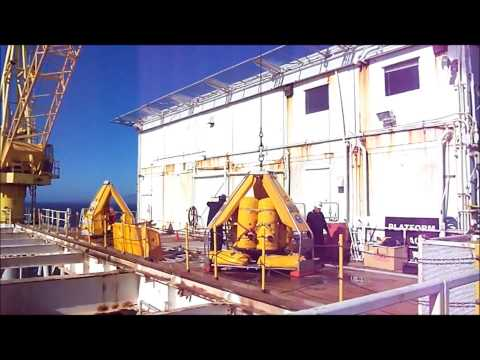 Offshore Personnel Transfer  Platform Testing. Video Property of Water Weights (tm)