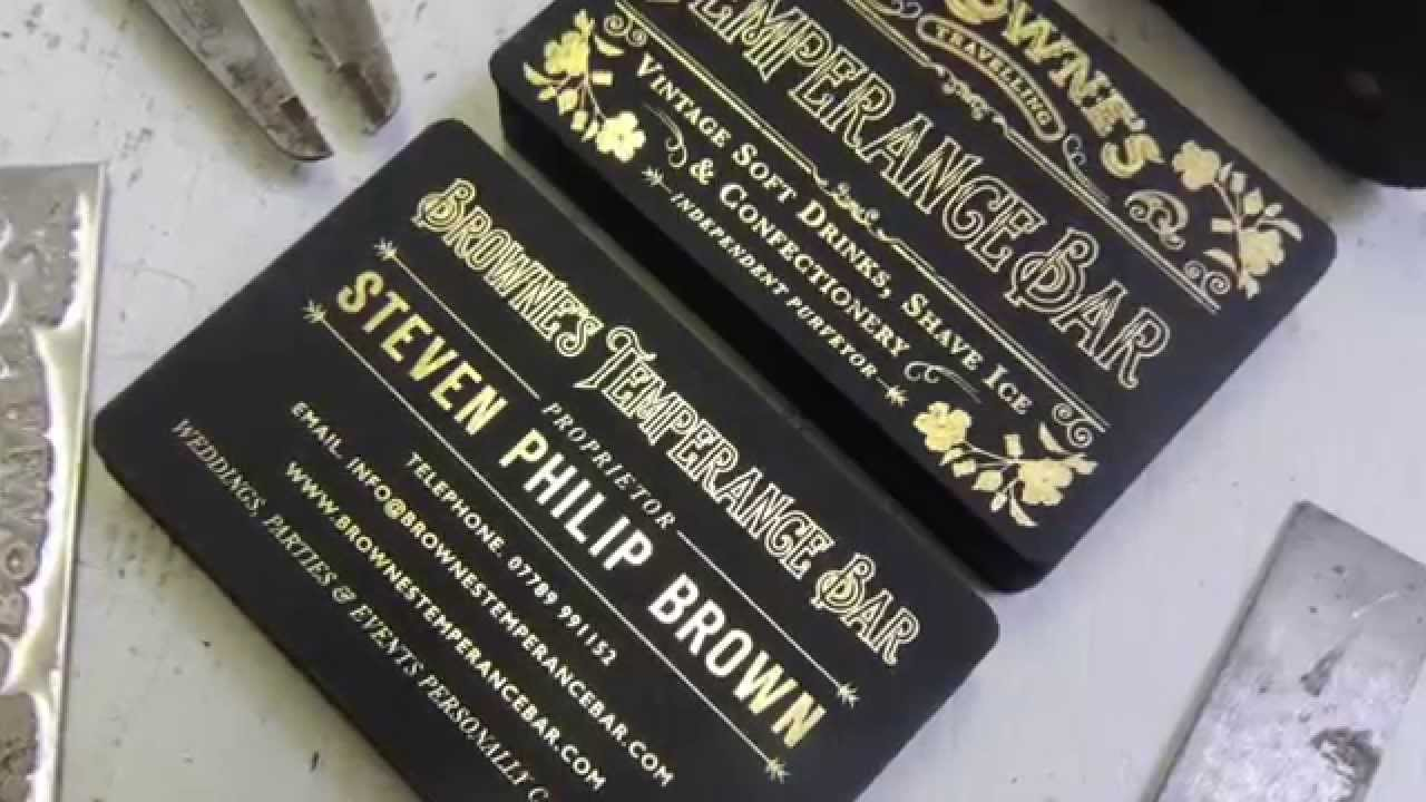 Hot Foil Business Cards by Class 4 Studios for Brown\'s Temperance ...