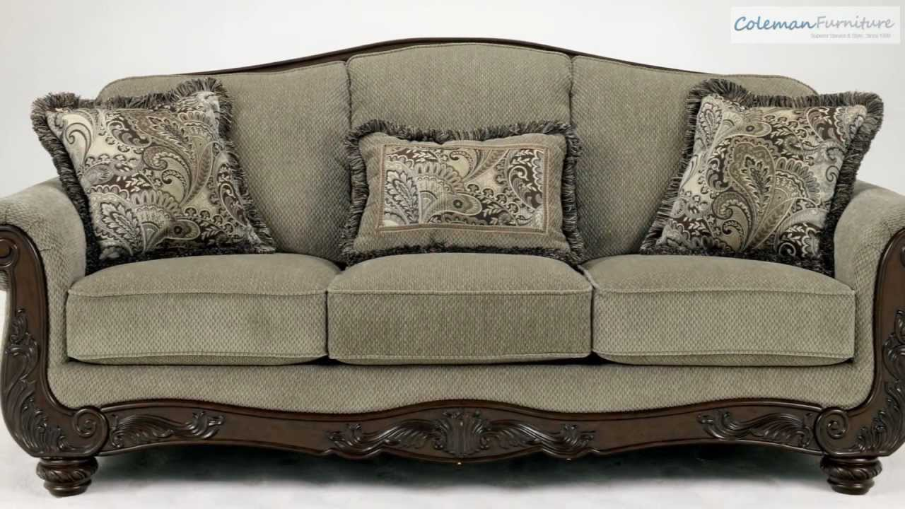 traditional sofa for living room leather price martinsburg meadow collection from signature ...