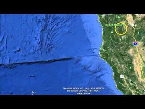 Strange Underwater Anomalies off Oregon, California Coast -Google Earth