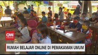 Rumah Belajar Online di Pemakaman Umum