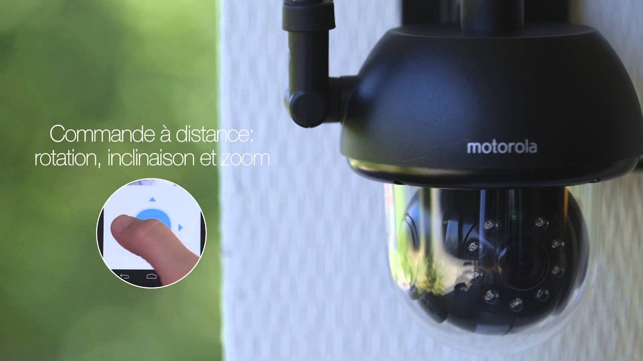motorola scout 73 cam ra de vid osurveillance ext rieure wi fi pour animaux youtube. Black Bedroom Furniture Sets. Home Design Ideas