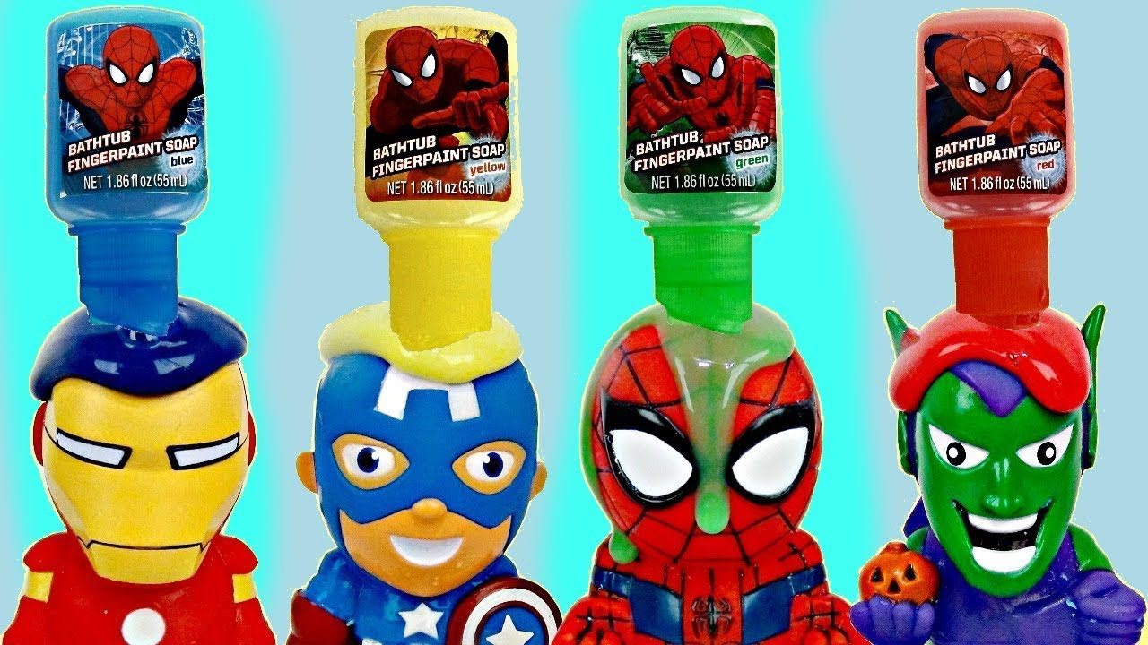 SUPERHERO Bath Paint Toy Squirters & Bubbles | Toys Unlimited - YouTube