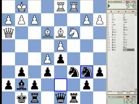 15 Min Chess #73 with Live Comments Sicilian c3