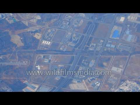 China aerials: industrial lands, factories, commercialization, massive airport and wind farms