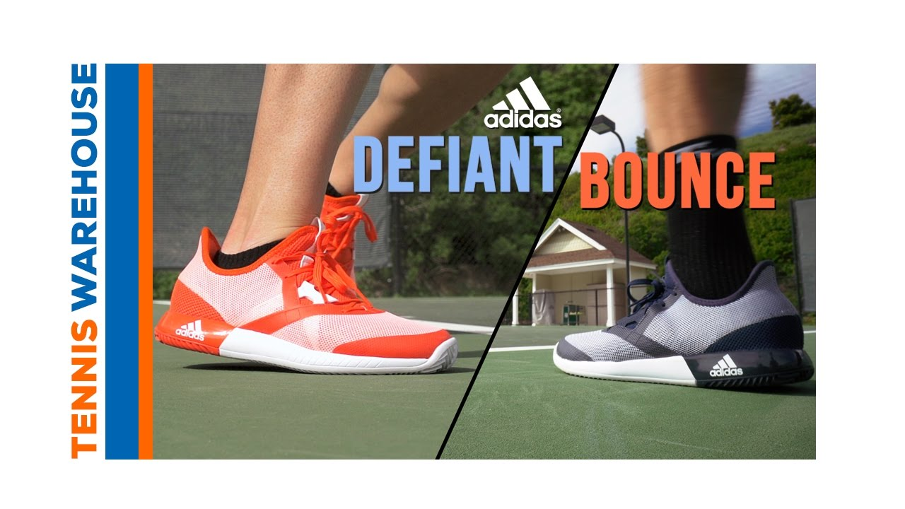 ad24c37bb743a adidas Defiant Bounce Tennis Shoe - a TW Exclusive! - YouTube