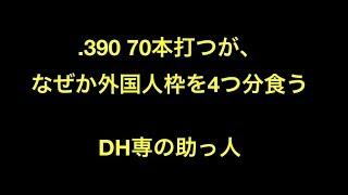 .390 70本打つが、なぜか外国人枠を4つ分食うDH専の助っ人【プロ野球】