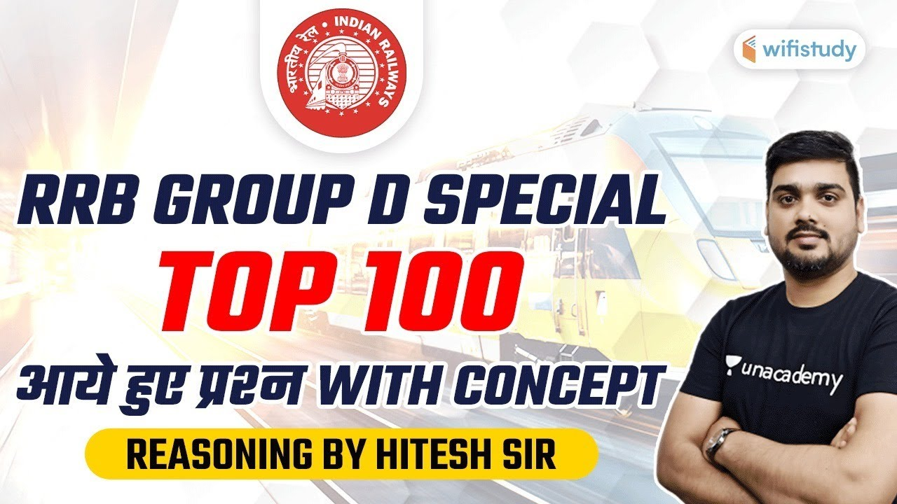 RRB Group D Special | Top 100 Reasoning Questions With Concept by Hitesh Mishra