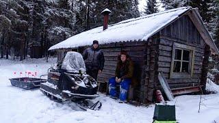 Поездка в лес на избу Зимняя рыбалка