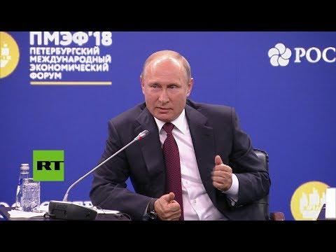 """Vladímir Putin: """"La economía mundial está embarazada de digitalización"""" (SUB)"""
