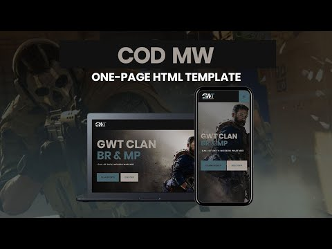 Call Of Duty Modern Warfare - HTML Website Template