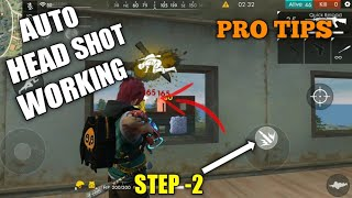 FREE FIRE | NEW TIPS AND TRICK FOR AUTO HEADSHOT FREE FIRE