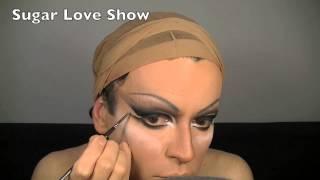 Drag Queen Big Black Eyes Make-Up Transformation