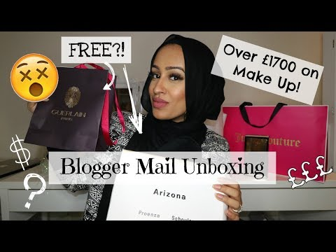 Blogger Mail Unboxing - Over £1700 free Make-Up?!