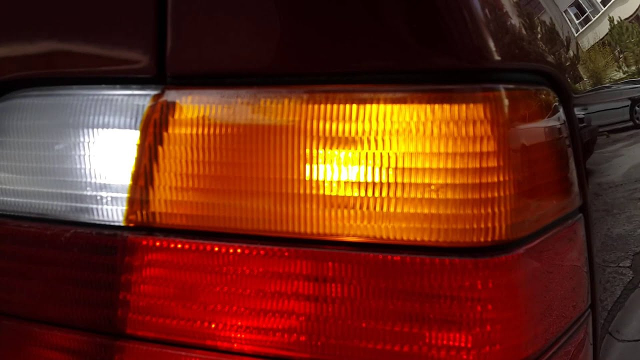 BMW E36 Led Tail Lights Comparison With Stock Halogen