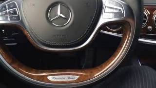 New Mercedes Benz S Class showing off its new distronic cruise control and active steering assist