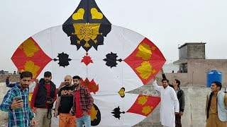 Biggest Patang in History Of Rawalpindi, Pakistan - Basant 2018 - 40 Githi Patang