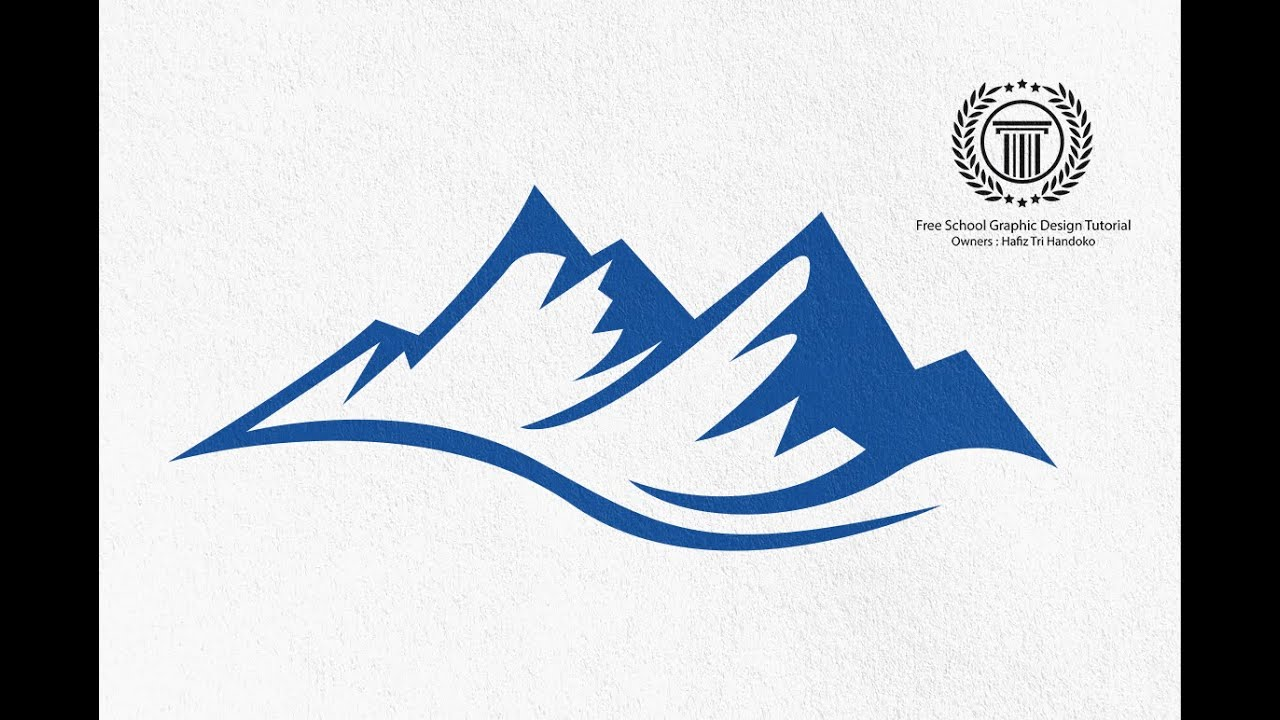 Mountain Shape Logo Design Tutorial How To Create A Simple Logo In Adobe Illustrator Cs6 Youtube