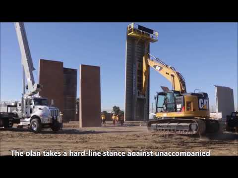Mexico/U.S. Border Walls: Timelapse Of Construction From Breaking Ground To Completion.