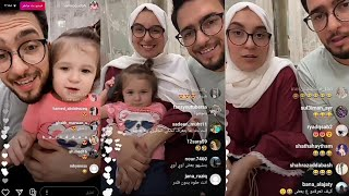 Live Amor with his wife Heba and his daughter Zina !!  Why does he not watch YouTube with him?