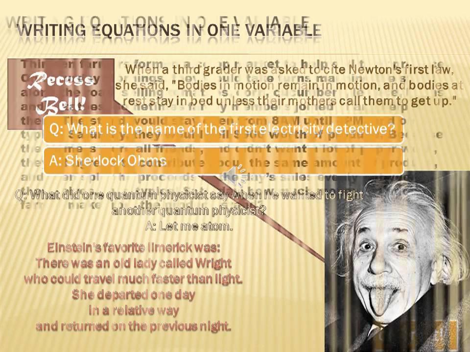 Algebra - Writing Equations: 6th Grade Math - YouTube