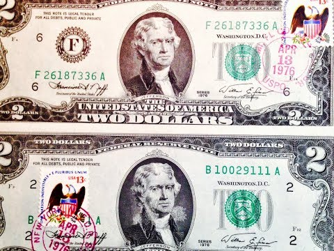 Specially Stamped 1976 Two Dollar Bill (Worth $5 Each)