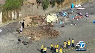 3 people dead, 1 other injured after bluff collapses at Grandview Surf Beach in Encinitas I ABC7