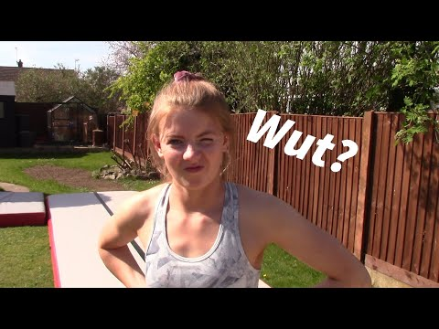 Teaching my girlfriend gymnastics - Round off back-Handspring - Part 1