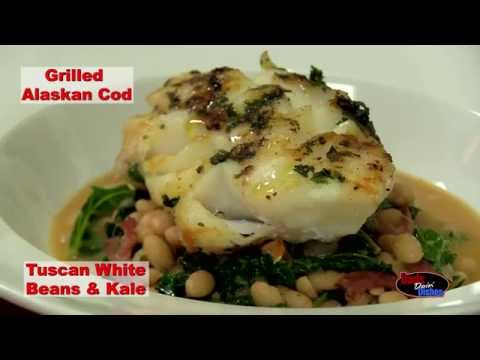 Download DONALD PENN Dads Doin' Dishes - Grilled Alaskan Cod with Tuscan White Beans & Kale