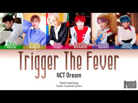 NCT Dream (엔시티 드림) – 'Trigger The Fever' Lyrics (Color Coded) (Han/Rom/Eng)