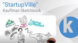 """Kauffman Sketchbook - """"StartupVille"""""""