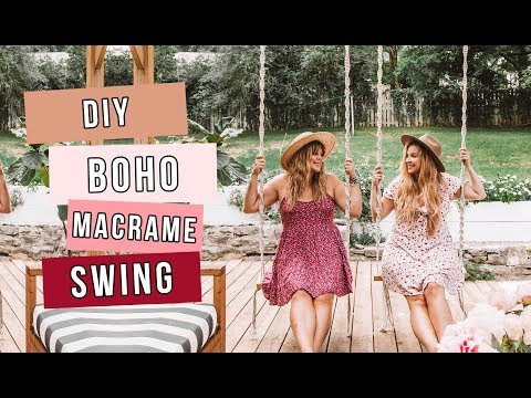 DIY: Boho Tulum-Inspired Macrame Swing