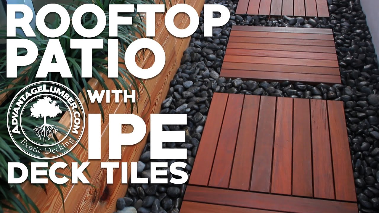 Advantage ipe deck tiles st petersburg fl rooftop youtube dailygadgetfo Images