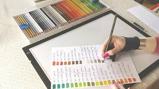 These are all the colours you will get in the 150 Holbein colour pencil set