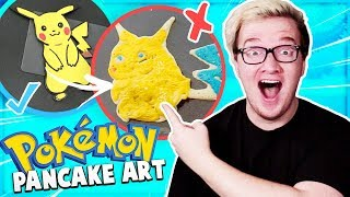 BEST Pokemon Pancake Art Challenge with Friends! How To Make Funny DIY Food Art!