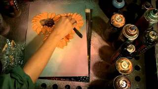 How to spray paint sunflowers, spray paint flowers