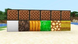 НОВЫЕ НОТНЫЕ БЛОКИ (звуки) в Minecraft 1.14 Snapshot 19W09A