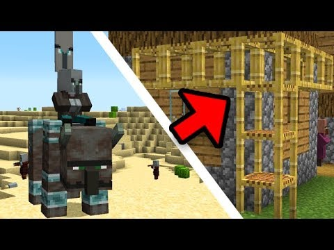 Minecraft: NEW Scaffolding and Pillager Raid Parties