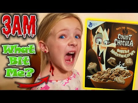 Do Not Eat Count Chocula Cereal at 3AM! *OMG* So Creepy!! Vampire Bites Me!!!