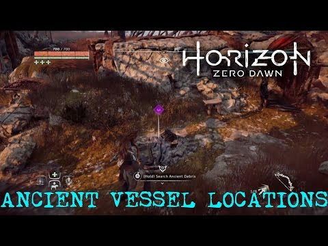 Horizon Zero Dawn - All Ancient Vessels Found / ANCIENT VESSEL LOCATIONS
