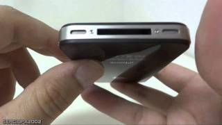 Location of the Apple's iPhone 4s speaker, microphone & micro sim card