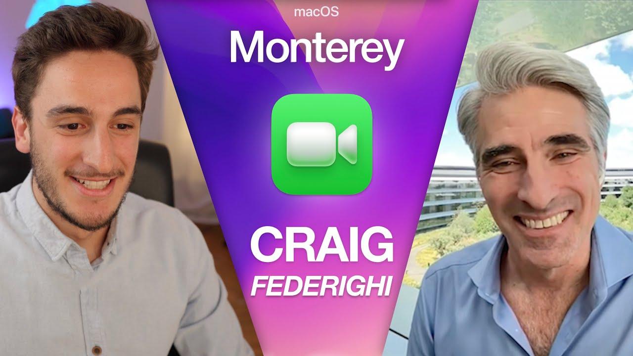 Craig Federighi parle d'iOS 15 et de macOS Monterey avec des YouTubeurs