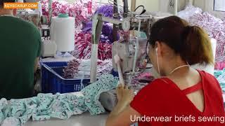 Underwear briefs sewing workshop in QISTAR china factory