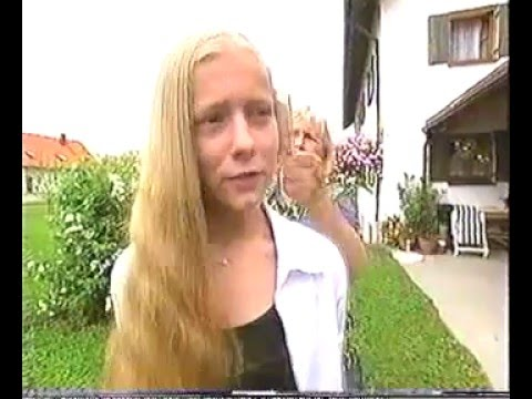 Very long silky blonde hair cut off on British TV Makeover   Doovi