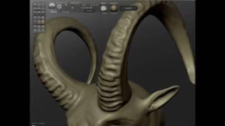 Satyr modeling in Sculptris