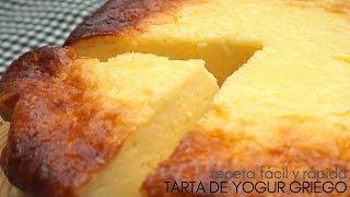 Tarta 🍰 de yogur griego.🍦 4 INGREDIENTES y 5 MINUTOS  de trabajo.