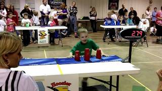 5 year old sport stacker: 3 world records!