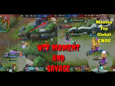 WTF Moment Mobile Legends (Funny Moments and Savage)